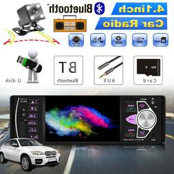 1 DIN 4.1'' Car Stereo Radio HD MP3 MP5 Player Bluetooth Rea