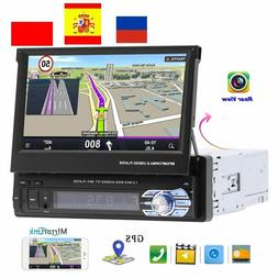 "1 Din 7"" Car Radio GPS Bluetooth Camera Auto Player MP5 Ster"