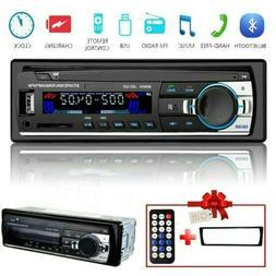 Car Stereo Radio 1 DIN Bluetooth FM In Dash Handsfree TF/USB