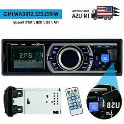 SoundXtreme Car Stereo, Bluetooth, No CD/DVD Player, USB, SD