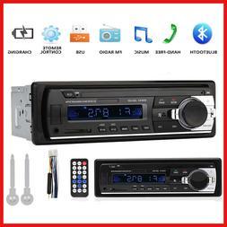 12V FM Bluetooth Car Stereo Radio 1 DIN In Dash Handsfree SD