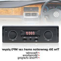 12V LED Display Car Radio MP3 Player Stereo Audio In-Dash Au