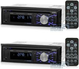 2) Boss 508UAB In Dash CD Car Player USB MP3 Stereo Audio Bl