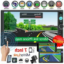 """2 DIN 7"""" Car Stereo Radio MP5 FM Player AUX Android/IOS Mirr"""