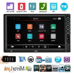 2 DIN 7 inch Car Stereo MP5 Player Bluetooth AUX USB FM Radi
