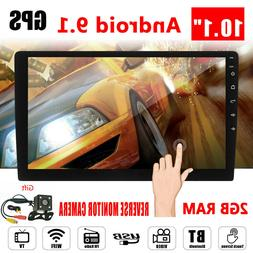 Android 9.1 2 DIN Car GPS Stereo 10.1'' HD Screen WIFI 4G FM