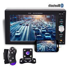 "Camecho 2 din Car Multimedia Player 1080P Full HD 6.2"" LCD T"