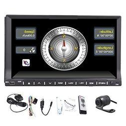 2 Din Car Stereo In Dash Deck Head Unit Steering Wheel Contr