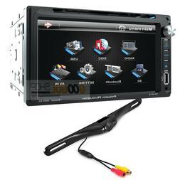 Power Acoustik 2 DIN Car Stereo, DVD, Bluetooth Radio w/ Bac