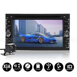 "2 DIN Car Stereo Radio DVD CD MP5 Player 6.2"" Touchscreen Bl"