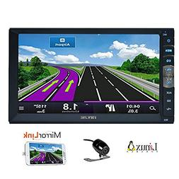 7 inch 2 Din Mirror Link for Android GPS Navigation Phones I