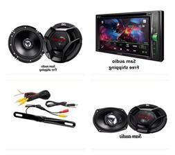 """Pioneer 2 DIN Stereo JVC 6.5"""" 300w Car Audio Speakers+ 6x9"""""""