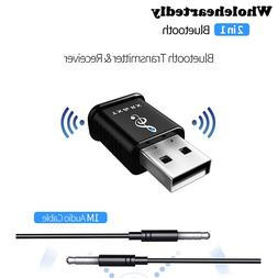 2 in 1 Portable USB Bluetooth 5.0 Transmitter Receiver <font