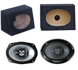 "2) New Kenwood 6x9"" 400W Car Audio Speakers + 2) 6x9"" Speake"