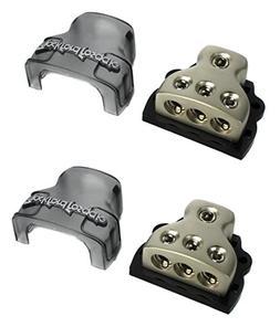 2) ROCKFORD FOSGATE RFD4 0/1/4-Gauge Ga Car Audio Distributi