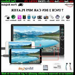 2DIN 7''Car FM Radio Stereo Mirror Link Bluetooth USB/TF/AUX