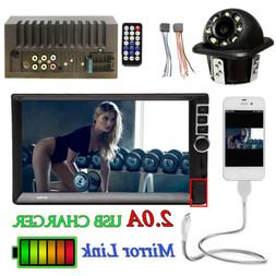 2DIN Car Stereo 7inch MP5 AM Player Mirror Link for Android