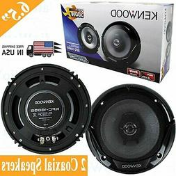 """Kenwood KFC-1665S 6.5"""" New 300W 2-Way Car Audio Coaxial Spea"""