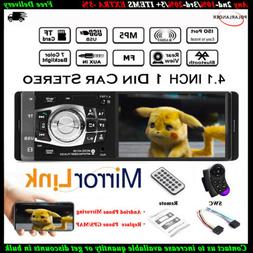 4.1'' Car Radio Stereo FM/USB MP3/MP4 Player Bluetooth Wheel