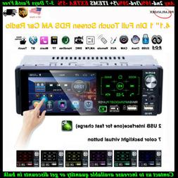 4''1 Din Car Radio Full Touch Screen 2USB RDS FM MP5 Player