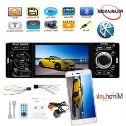 """4"""" 1 Din Car Stereo Radio Touch Screen MP5 Player Mirroring"""