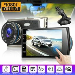 "4"" 1080P HD Touch Screen Car DVR Camera Video Recorder Dash"