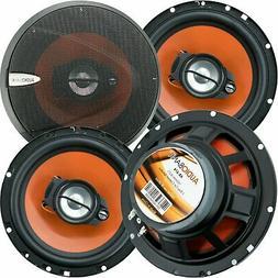 "4) Audiobank 6.5"" 600 Watt 3-Way Car Audio Stereo Coaxial Sp"