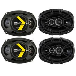 4 Kicker 43DSC69304 D-Series 6x9 140 Watt 3-Way Car Audio Co