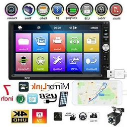4 LED USB 2.0 Portable Car Stereo MP4 MP5 Player Touch Scree