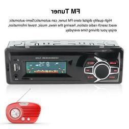 4CH Car Stereo Audio In-Dash FM Aux Input Receiver TF SD USB