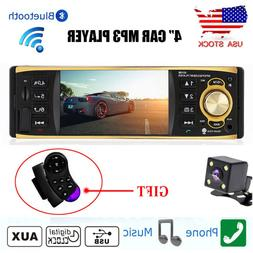 4inch Car Stereo Radio Audio Bluetooth MP3 Player 1 DIN USB/