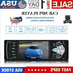 "4LED Backup Camera+4.1"" Single 1Din Car Stereo Radio HD MP5"