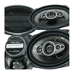 "4x Audiobank AB-690 6""x9"" 1400 Watts 5-Way Car Audio Stereo"