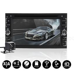 """6.2"""" 2 DIN Car Stereo Radio DVD CD MP5 Player FM TF Touch Bl"""