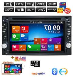 """6.2"""" 2DIN Car CD DVD Player Bluetooth Touch Screen Stereo Ra"""