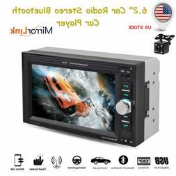 "6.2"" Car Radio 2Din Car Stereo MP5 Player Bluetooth FM Audio"