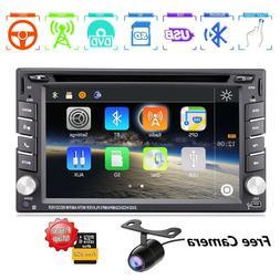 "6.2"" GPS Navigation 2Din HD Car Stereo DVD CD Player Bluetoo"
