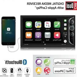 Dual Electronics 6.2″ LCD Double DIN Car Stereo with Apple