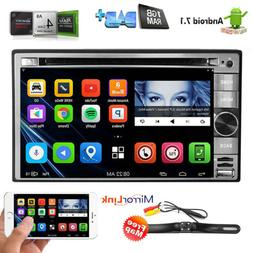 """6.2"""" Smart Android 7.1 4G WiFi Double DIN Car Radio Stereo D"""