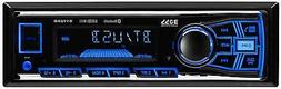 BOSS Audio 611UAB Multimedia Car Stereo – Single Din, Blue