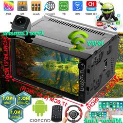 "7"" 1080P 2 Din Android Car Stereo Radio GPS Wifi 3G/4G BT Mi"