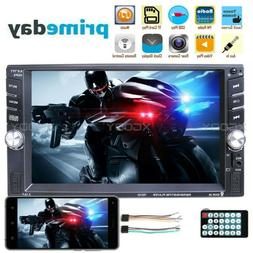 "7"" 1080P Double 2 DIN Car GPS FM Stereo Radio MP5 Player Tou"