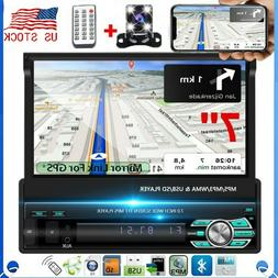 7'' 1Din Car Radio Touch Screen FM Flip out Bluetooth MP5 Pl