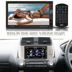 "7"" 2 DIN Car Multimedia FM Radio DVD CD MP5 Player Bluetooth"