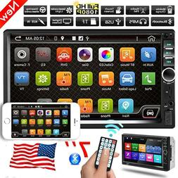 """7"""" 2 DIN Car Stereo Radio  Android/IOS Mirror Link Remote Co"""
