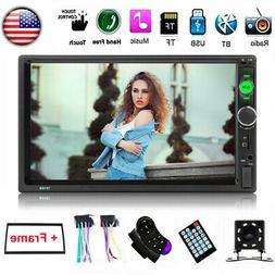 "7"" 2 Din Car Stereo Radio MP5 FM Bluetooth Touch Screen USB"