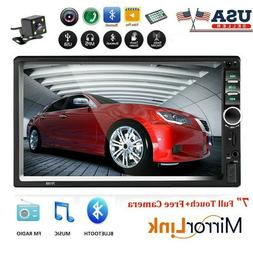 """7"""" 2 Din Car Stereo Radio Touch Screen Bluetooth DVR USB AUX"""
