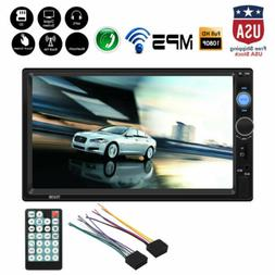 """7"""" 2 Din HD 1080P Touch Screen Cars FM/MP5 Player Bluetooth"""