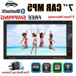 "7"" 2 Din HD Car Stereo Car DVD Player Auto Radio With Backup"