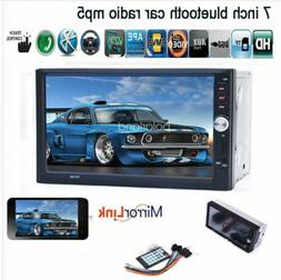 7''2 DIN Touch Screen Car Radio Audio MP5 Mirror Link Stereo
